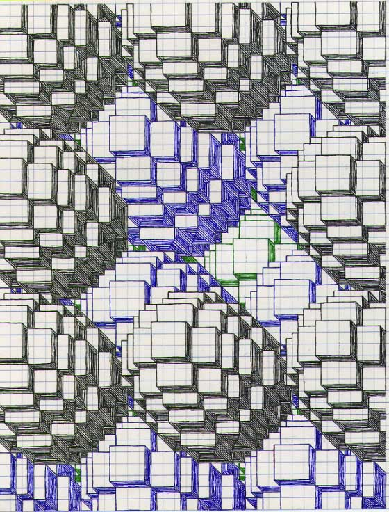 Graphing Paper Art Design Drawing on Graph Paper Art